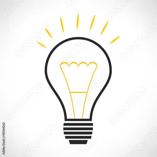 quotlight bulb logo vector illustration quot stock image and