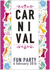 Carnival fun party poster.