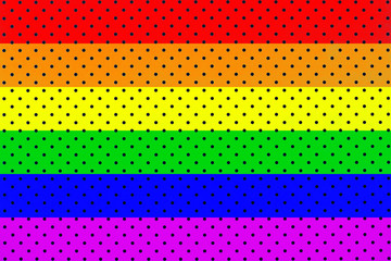 wallpaper rainbow flaw with black dots background pattern. Horizontal lines