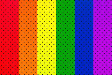 wallpaper rainbow flaw with black dots background pattern. Vertical lines