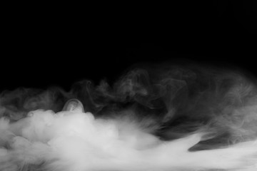 Abstract fog or smoke move on black color background Fototapete