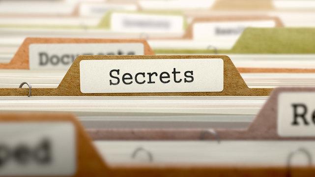 Folder in Catalog Marked as Secrets.
