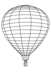 Air Balloon Coloring Picture