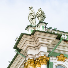 Detail of facade of the State Hermitage Museum, Saint Petersburg