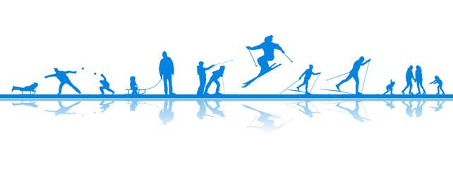 Menschen Wintersport