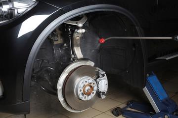 Car service. Washing a car high pressure