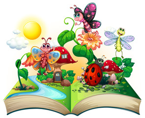 Butterflies and other insects in the book