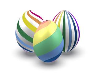 Easter eggs rainbow