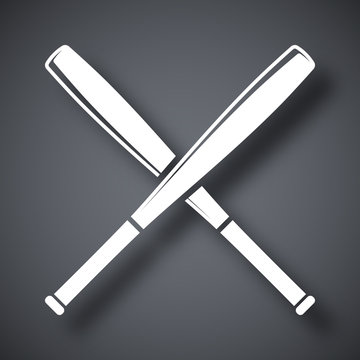 Vector crossed baseball bats icon