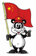 Panda with China Flag