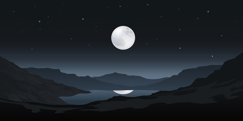 Paysage Sauvage Clair de Lune