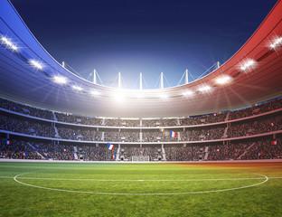 Stadion farbiges Licht Frankreich 2