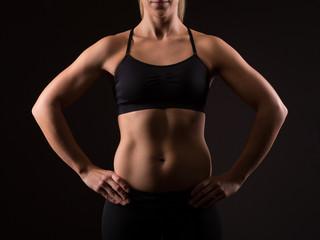 Sporty female upper body