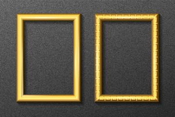Gold frame for portrait set 2