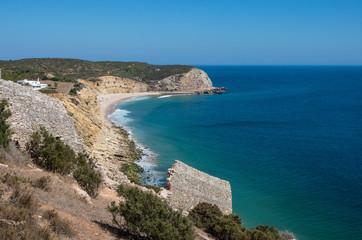 Atlantic coast beach in Algarve