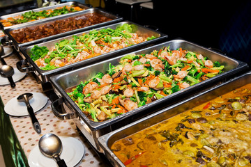 Thailand food buffet.