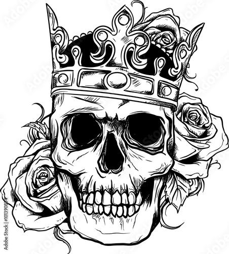 Teschio rose imagens e vetores de stock royalty free no for Teschi da disegnare