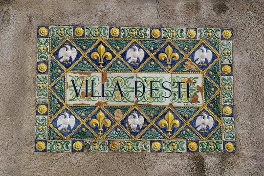 Villa d'Este, Tivoli, Italien