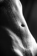 water drops on woman skin