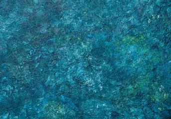 Vintage textured grunge background. Indigo blue green background