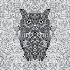 owl art theme