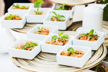 Thailand Spicy fish Salmon cocktail.