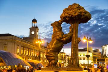 Foto auf Acrylglas Madrid Statue of bear on Puerta del Sol, Madrid, Spain.