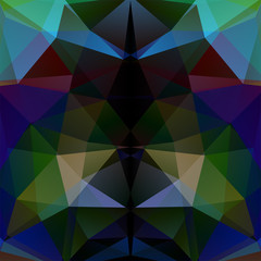 Background made of triangles. Dark green, blue, beige, brown colors