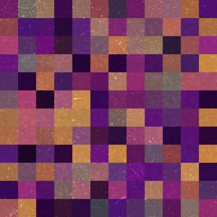 Vintage seamless abstract background with colorful squares