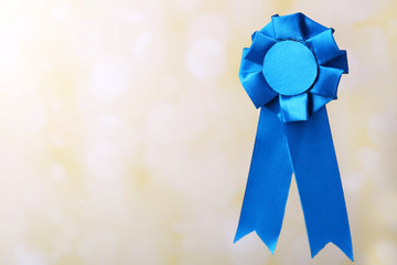 Award ribbon on light background