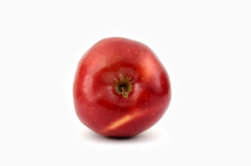 red apple (isolated object on white background)