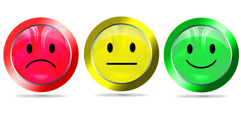 smilie positiv, neutral, negativ, freigestellt