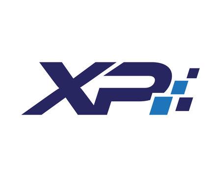 XP digital letter logo