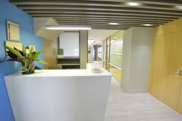 Modern business office reception