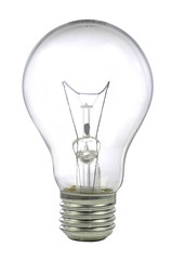 light bulb isolated on white background