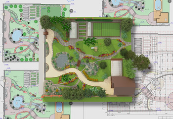 Plan of garden land