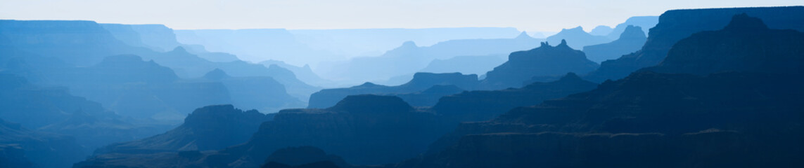 Canvas Print - Grand Canyon on a Hazy Morning