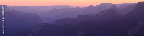 Canvas Prints Grand Canyon Sunset Silhouette Panorama