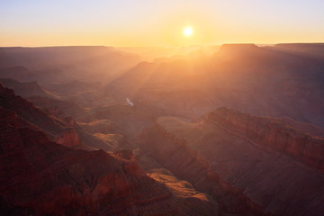 Canvas Print - Sun Rising at the Grand Canyon - Arizona