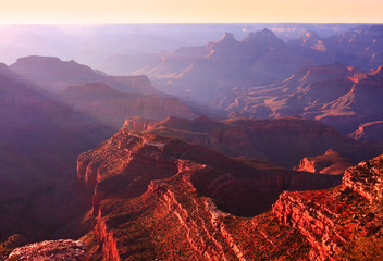 Canvas Print - Grand Canyon in the Morning Light