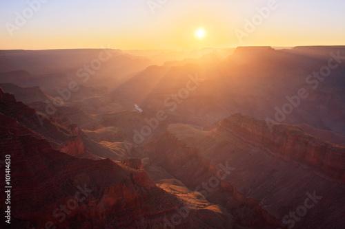 Canvas Prints Sun Rising at the Grand Canyon - Arizona