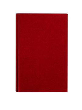 Maroon red hardcover book front cover upright vertical isolated