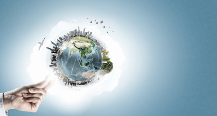 Green Earth planet concept