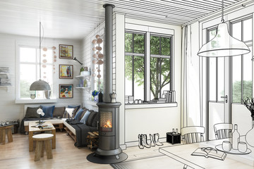 Sommer Bungalow (ilustration)