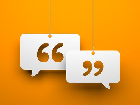 Chat symbol and Quotation Mark