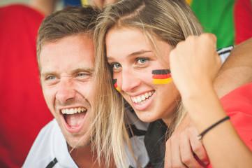 German Couple at Stadium