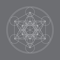 Metatrons Cube - Flower of life.