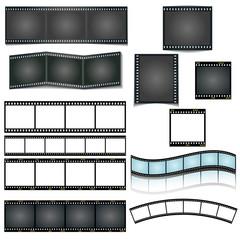 set verschiedene dia filmstreifen vektor illustration, vorlage