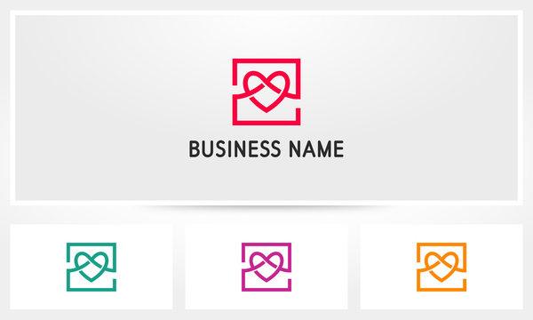 Love Box Heart Logo