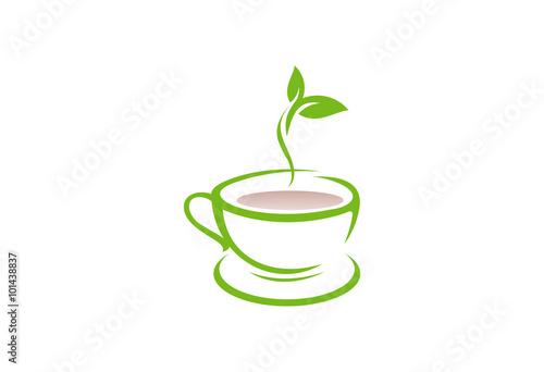quottea cup logo vectorquot stock image and royaltyfree vector